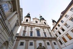 Église de jésuite à Vienne Images libres de droits
