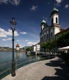 Église de jésuite de Luzerne Images stock