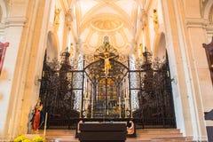 Église de jésuite en luzerne Images stock