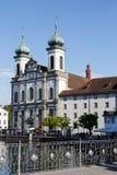 Église de jésuite en luzerne Photo libre de droits