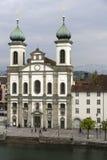 Église de jésuite en luzerne en Suisse Photo libre de droits