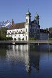 Église de jésuite en luzerne en Suisse Photographie stock libre de droits