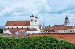 Église de jésuite et église paroissiale d'archange Michael de saint en SK Image stock