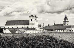 Église de jésuite et église paroissiale d'archange Michael de saint en SK Photographie stock libre de droits