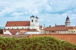 Église de jésuite et église paroissiale d'archange Michael de saint en SK Photographie stock