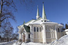 Église de Jokkmokk images stock