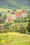 Église de jument de Copsa, la Transylvanie, Roumanie Photos stock