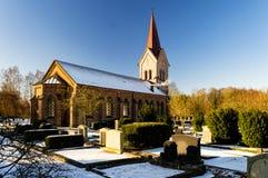 Église de Kallna dans le skane Photographie stock