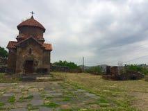 Église de Karmravor, Arménie, Khachkars Photographie stock libre de droits