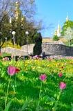 Église de Kiev Pechersk Lavra, pendant la Pâques Photographie stock libre de droits