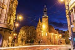 Église de Klaryski dans Bydgoszcz Images libres de droits