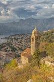 Église de Kotor de notre Madame de paysage de remède Photographie stock