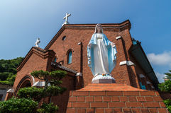 Église de Kurosaki, Nagasaki Japon Photos stock