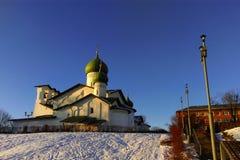 Église de l'épiphanie de Zapskovje Images libres de droits