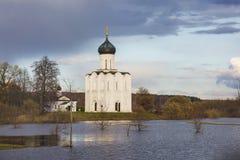 Église de l'intervention sur le Nerl Région de Vladimir, Russie Images libres de droits