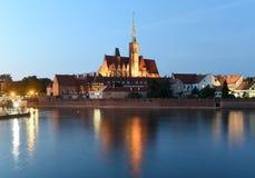 Église de la croix et de St Bartholomew saints à Wroclaw, Pologne photo stock