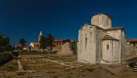Église de la croix sainte dans Nin, Croatie Image libre de droits