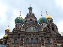 Église de la résurrection du Christ, connue sous le nom de Sauveur-sur-sang à St Petersburg, la Russie Images stock