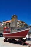 Église de Laxe, un Coruña, Galicie, images libres de droits