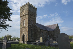 Église de Llanidan, Brynsiencyn, Anglesey, Image libre de droits