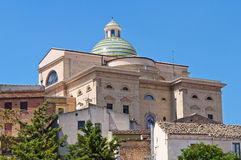 Église de mère. Biccari. La Puglia. L'Italie. image stock