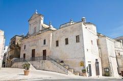 Église de mère. Cisternino. La Puglia. l'Italie. photos stock