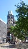 Église de mémoire à Berlin images libres de droits