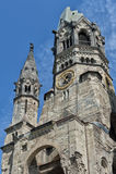 Église de mémorial de Kaiser Wilhelm Images stock