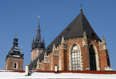 Église de Mariacki à Cracovie Photos libres de droits