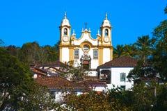 Église de Matriz De Santo Antonio des gerais Brésil de la Minas de tiradentes Images libres de droits