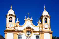 Église de Matriz De Santo Antonio des gerais Brésil de la Minas de tiradentes Photographie stock