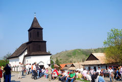 Église de Mediavel, Holloko, Hongrie Photographie stock
