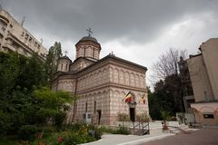 Église de Mihai Voda - Bucarest Photo stock