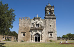 Église de mission de San Jose, San Antonio, le Texas, Etats-Unis Photos stock