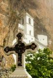 Église de monastère chrétien Ostrog, Monténégro image libre de droits
