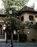 Église de monastère de Stavropoleos à Bucarest, Roumanie photos libres de droits