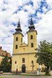 Église de nativité de mère de Dieu dans Michalovce, Slovaquie photographie stock