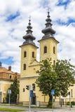 Église de nativité de mère de Dieu dans Michalovce, Slovaquie image stock