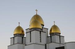 Église de nativité la Vierge bénie, Lviv Photos stock