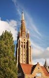 Église de notre Madame à Bruges flanders belgium photographie stock libre de droits