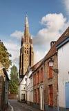 Église de notre Madame à Bruges flanders belgium photos stock