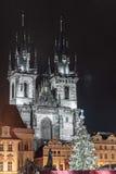 Église de notre Madame avant Tyn à Prague, République Tchèque Images stock