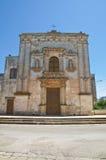 Église de notre Madame de la grâce. Soleto. La Puglia. L'Italie. Image libre de droits