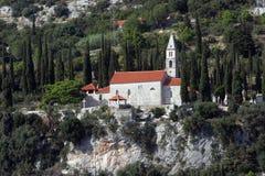 Église de notre Madame des anges dans Orebic, Croatie photo libre de droits