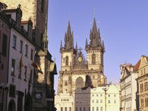Église de notre Madame Before Tyn, Prague Photo stock