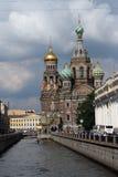 Église de notre sauveur sur les russ renversés de Pétersbourg de sainct de sang Photos libres de droits