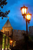 Église de nuit Photos stock