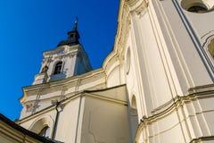 Église de pèlerinage de Vierge Marie dans Krtiny photos stock