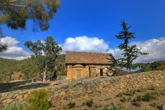 Église de Panagia Asinou Photos libres de droits