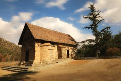 Église de Panagia Asinou Image stock